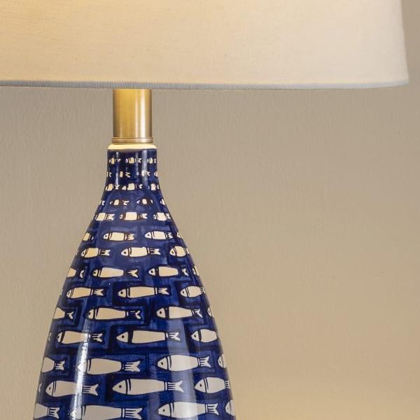 Coastal Fish Ceramic Table Lamp