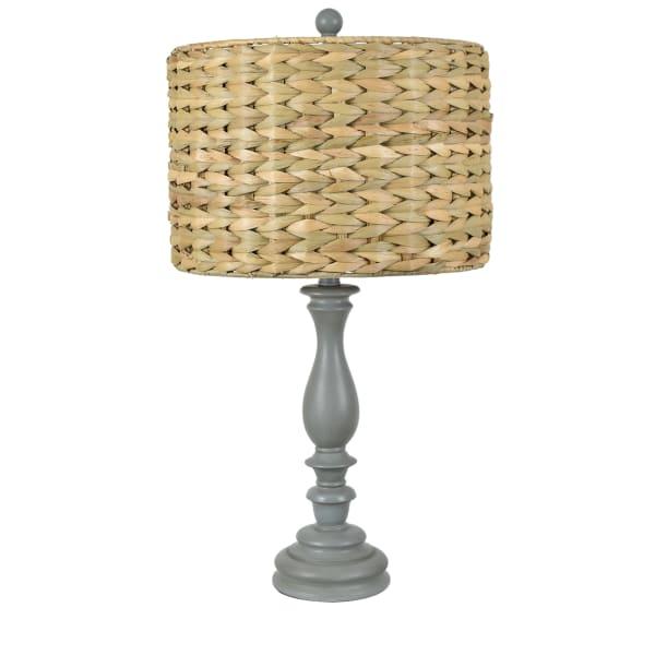 Phaedra Gray Resin Table Lamp