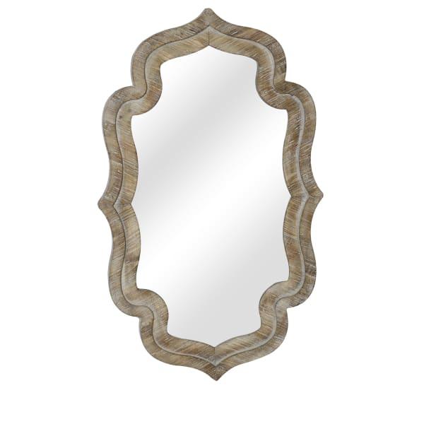 Kinley White Wash Wood Mirror