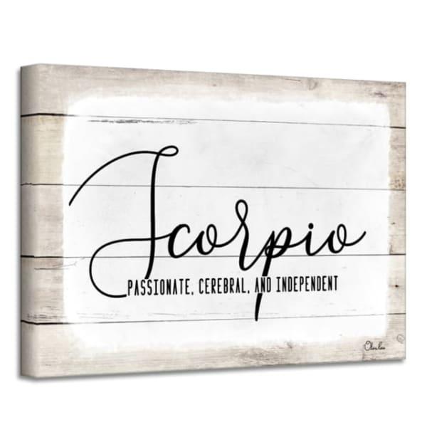 Zodiac Canvas Textual Wall Art - Scorpio