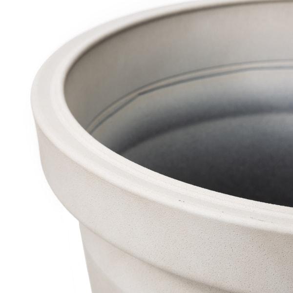 Evironmental Oversized Faux Ceramic Round Polyresin Pot Planter, Set of 3