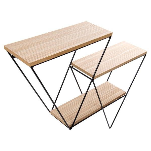 Triangle Black Wooden Floating Shelf