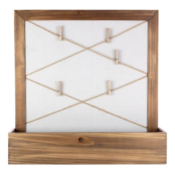 Irwin Walnut Wooden with Corkboard Floating Shelf