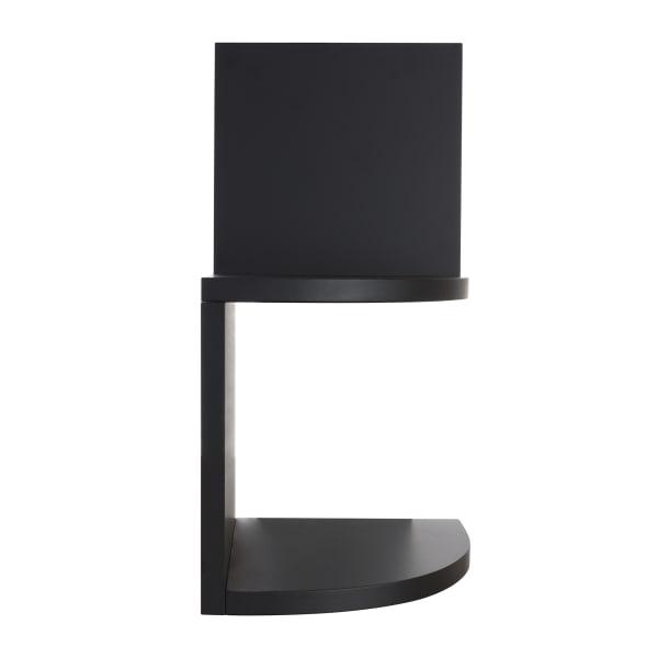 Priva Black Wooden Corner Floating Shelves Set of 4