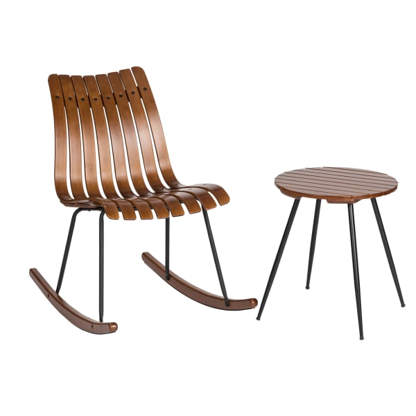 Bamboo Accent Rocking Chair and Table