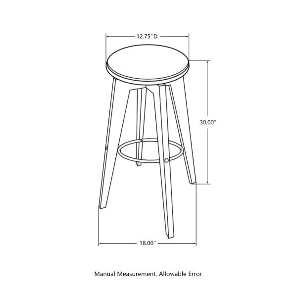 Bamboo Swivel Upholstery Set of 2 Bar Stools