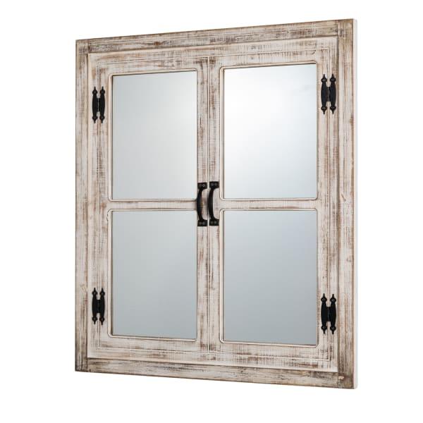 Farmhouse Wood Window Frame Wall Mirror