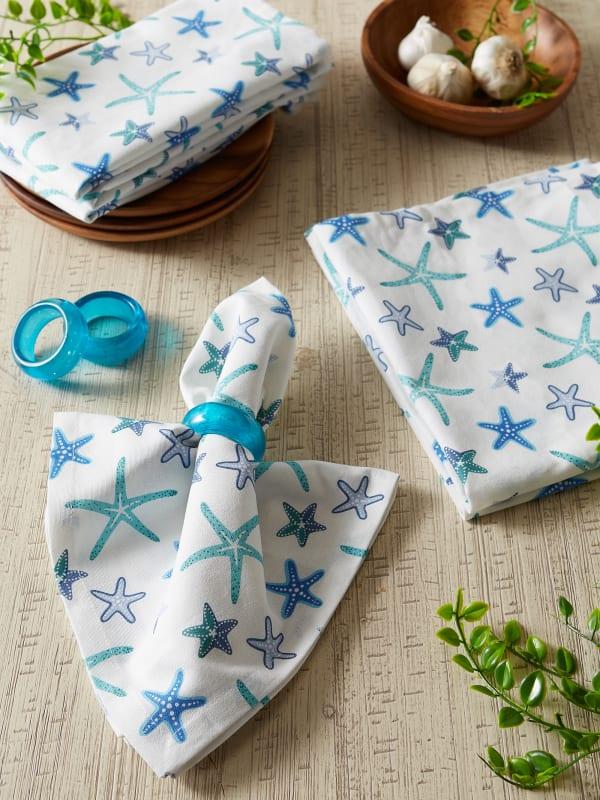 Star Fish Set of 6 Napkins
