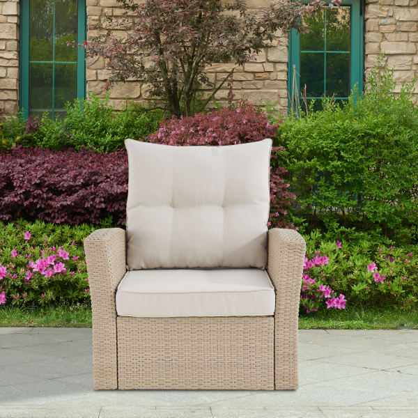 Canaan All-Weather Wicker Outdoor Armchair with Cushions