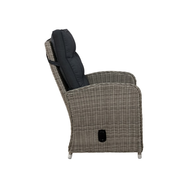 Monaco All-Weather Wicker Outdoor Recliner and Ottoman