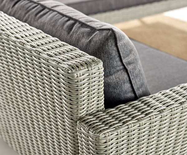 Albany All-Weather Wicker Outdoor Gray Corner Sectional Sofa Set