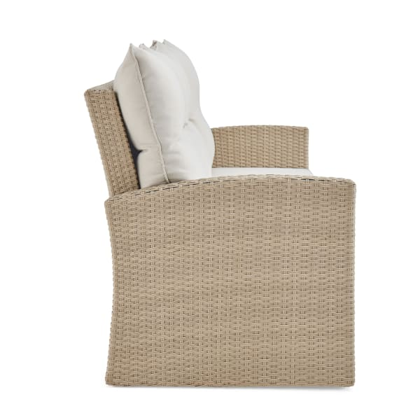 Canaan All-Weather Wicker Outdoor Sofa with Cushions