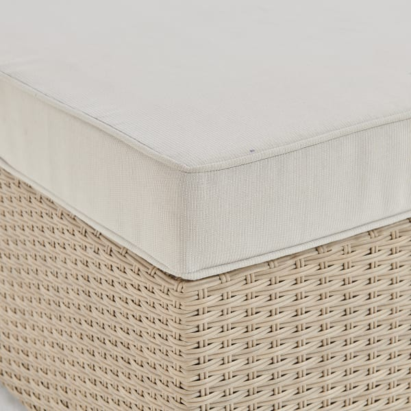Canaan All-Weather Wicker Outdoor Ottoman with Cushion