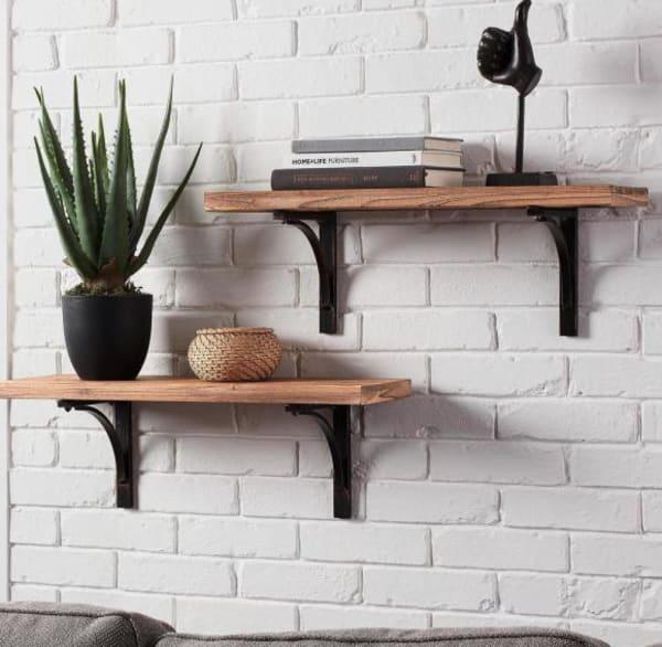 Wood Set of 2 Bookshelves