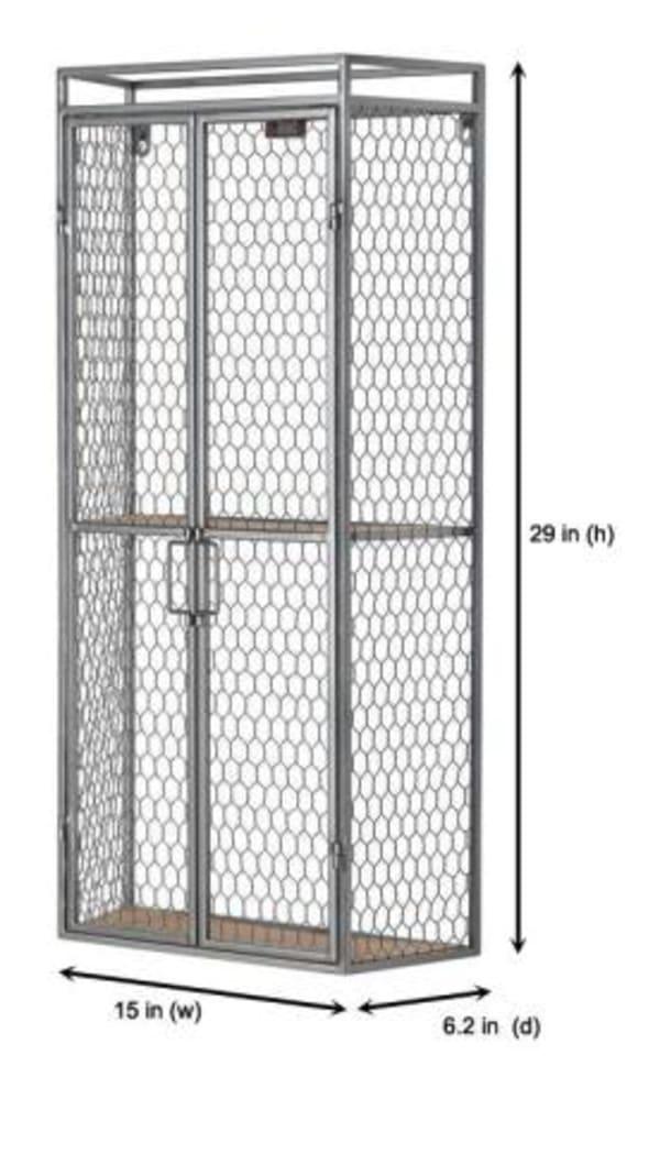 Two Shelf Metal Cabinet