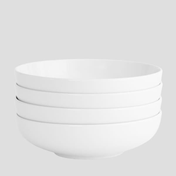 Euro Essential White Matte Set of 4 Bistro Bowl