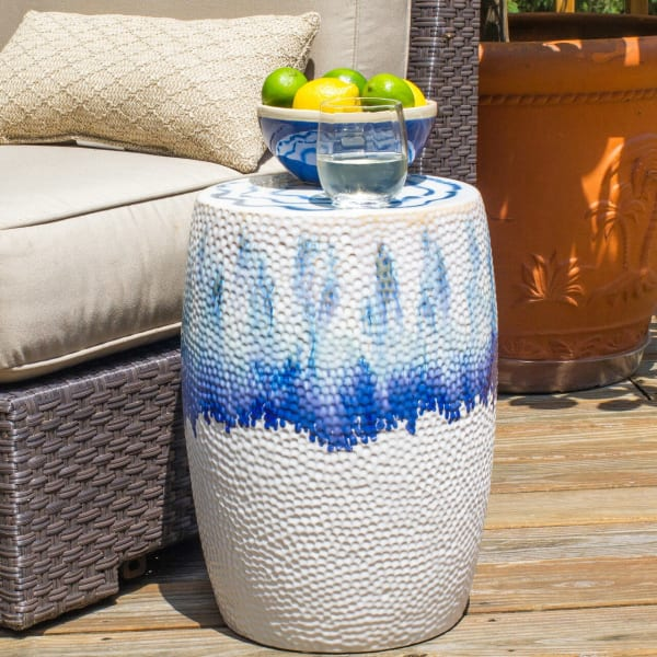 Fusion Ombre Drip Drum Stool
