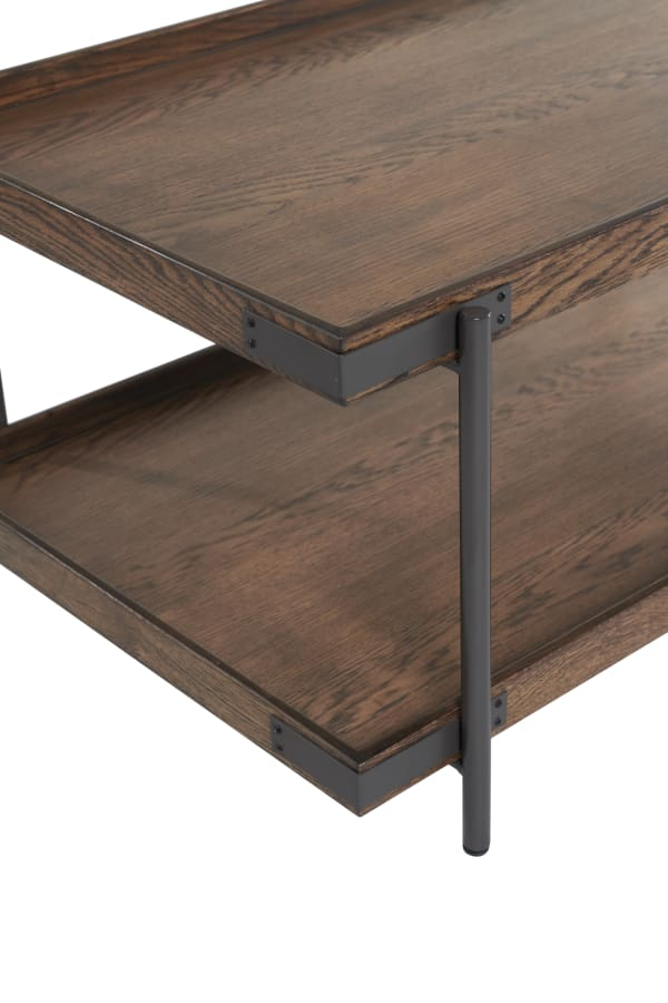 Kyra 4 Piece Oak and Metal Accent Table Set