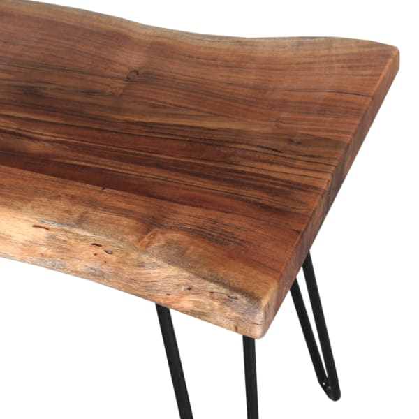 Hairpin Natural Live Edge Wood with Metal 48
