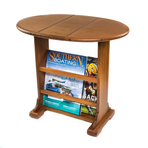 Small Teak Drop-Leaf Outdoor Table