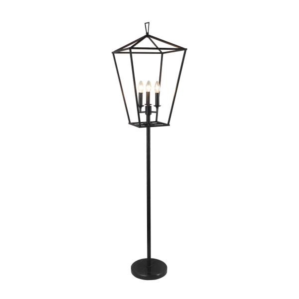 Hollie 3 Light Lantern Shape Floor Lamp