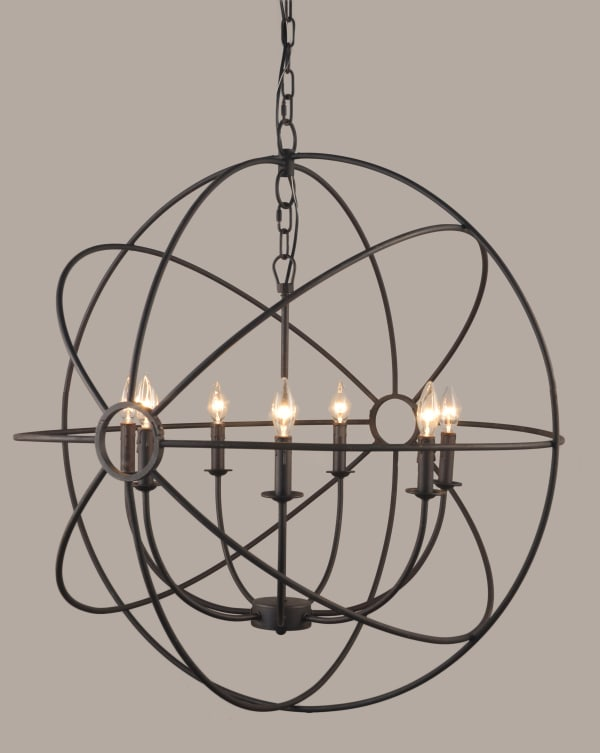Bella Iron Globe Pendant Light