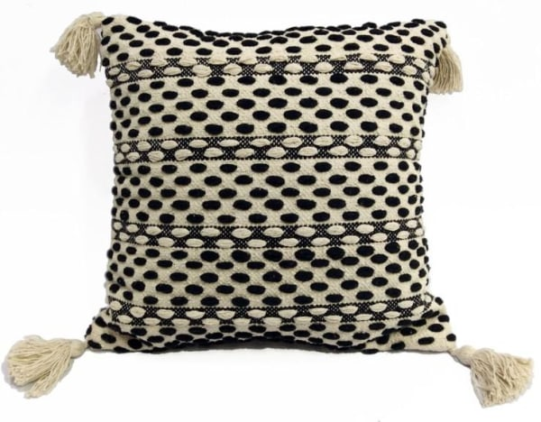 Accent Throw Pillow for Couch Handloom Woven with Tassels