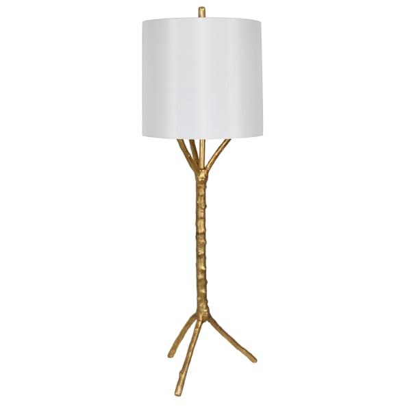 Asa Gold Leaf Iron Tree Table Lamp