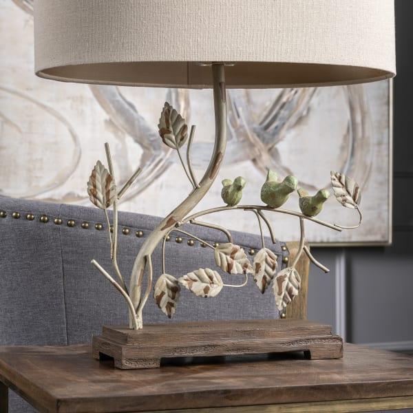 Briar Antiqued Metal Bird Table Lamp