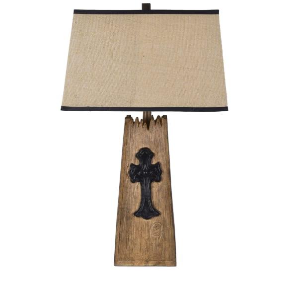 Faith Resin Cross Table Lamp
