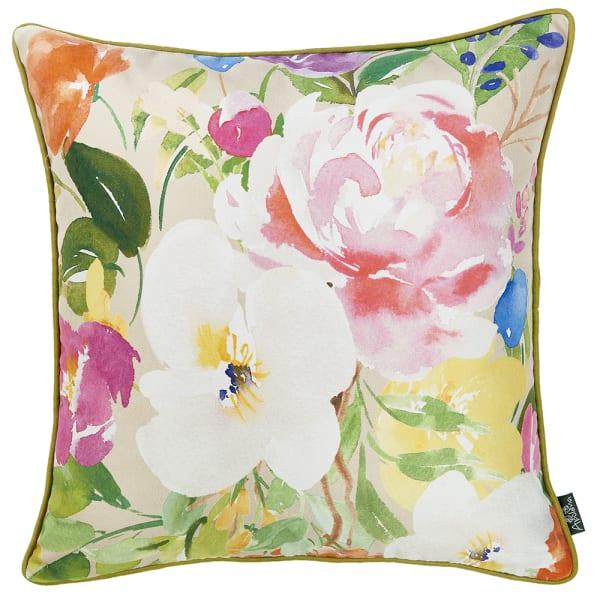Watercolor Bouquet Decorative Throw Pillow Cover
