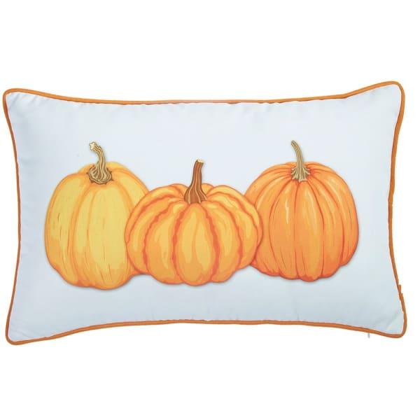 Pumpkin Trio Lumbar Decorative Throw Pillow Cover