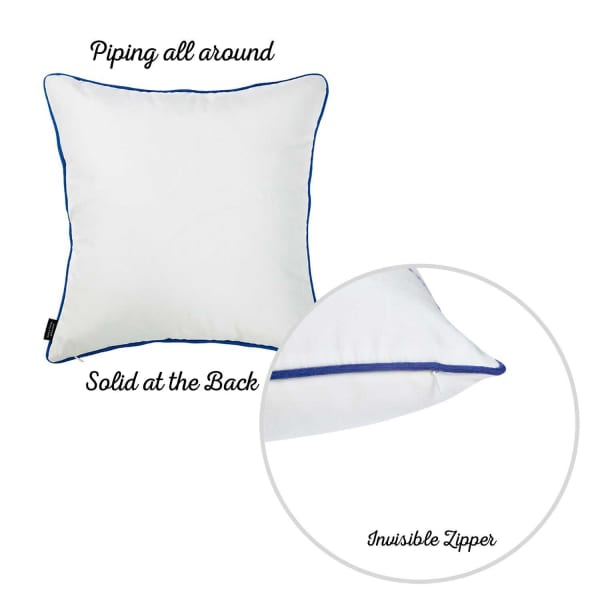 Nautical Anchor Decorative Throw Blue and White Pillow Cover