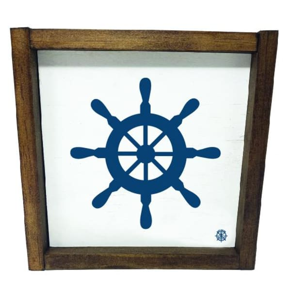 FRAMED WHEEL Wall Accent