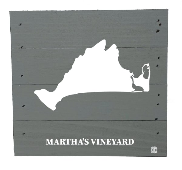 MARTHA'S VINEYARD ON GRAY Wall Accent