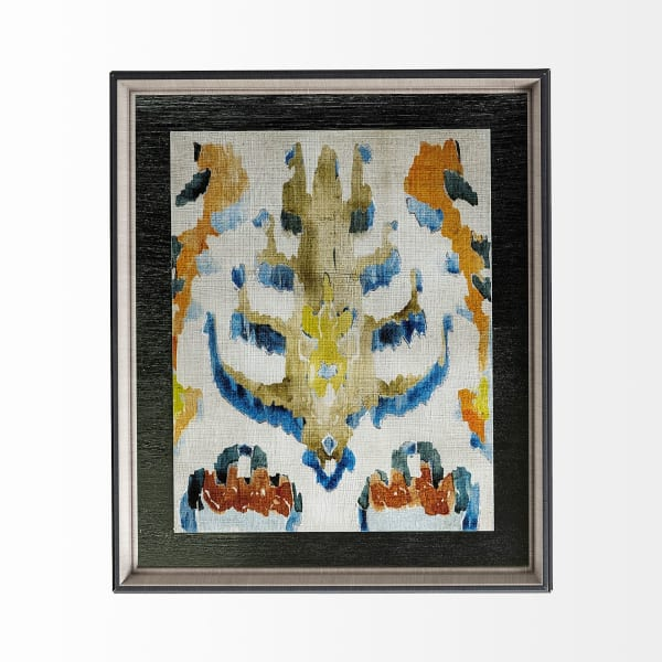 Bohemian Ikat IV Wrapped Canvas Wall Art