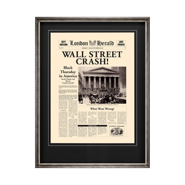 Wall Street Crash Wrapped Canvas Wall Art