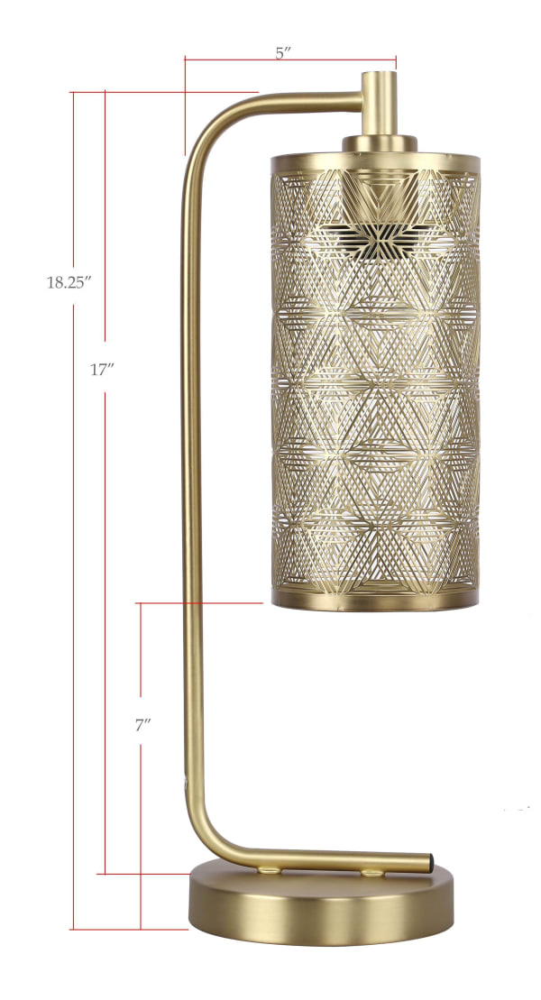 Royal Gold with Metal Cut-Out Shade Task Lamp