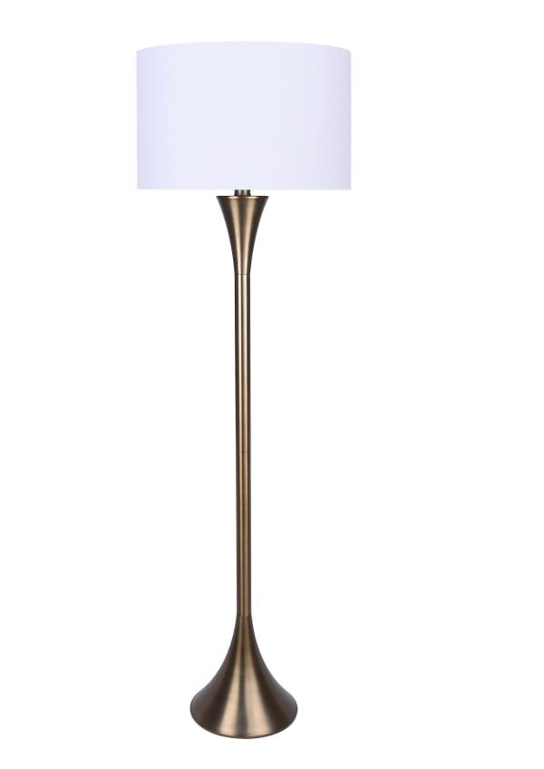Matte Golden Bronze Finish Stick Slim Floor Lamp