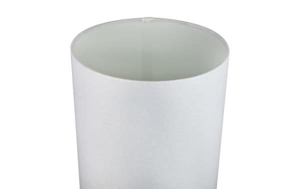 Brushed Nickel with White Semi Gloss Drum Shades Set of 2 Table Lamps
