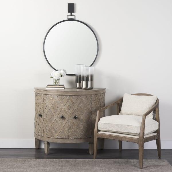 Grimm-Round Metal Wall mirror decorative hook
