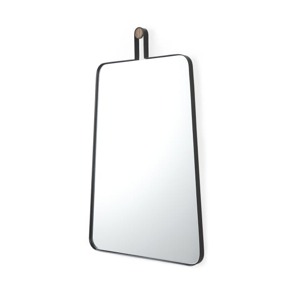 Collie II Black Wall Mirror