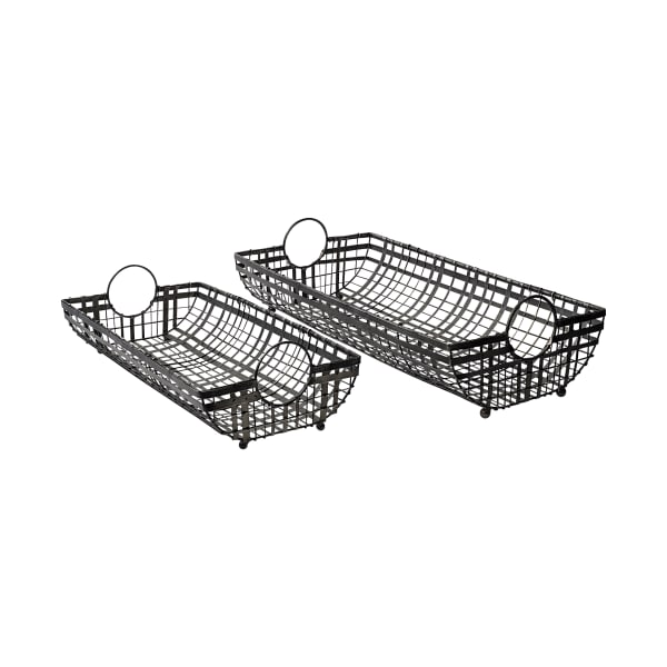 Kenneth Gray Metal Set of 2 Baskets