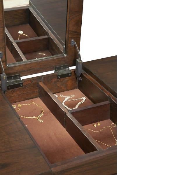 Gramercyy Wood Bedroom Vanity in Walnut Brown