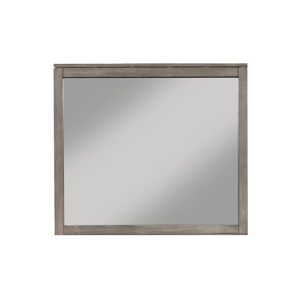 Sydney Bedroom Wood Mirror in Weathered Gray