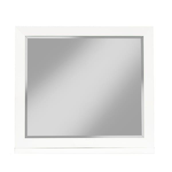 Alpine FurnitureTranquility Wood Bedroom Mirror in White