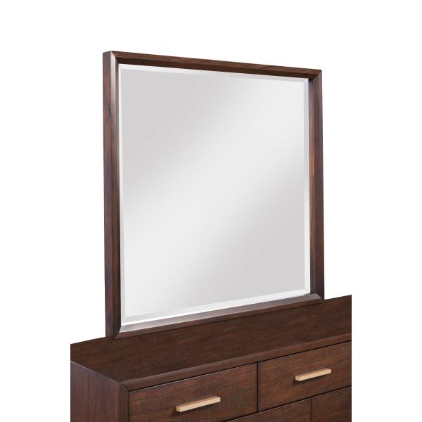 Gramercy Wood Bedroom Mirror in Walnut