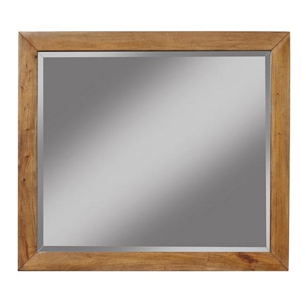 Flynn Mid Century Modern Mirror in Acorn Brown