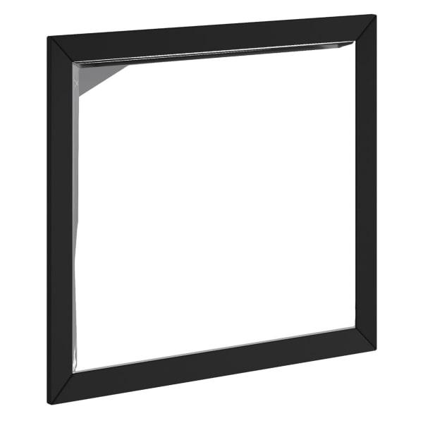 Flynn Mid Century Modern Wood Mirror in Black