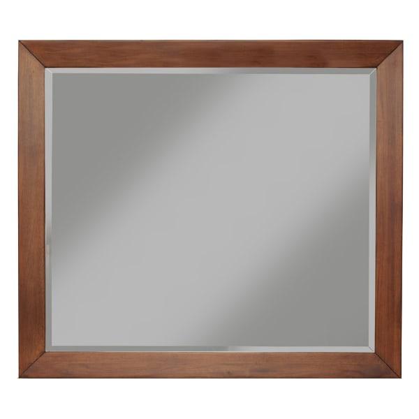 Flynn Mid Century Wood Mirror in Acorn